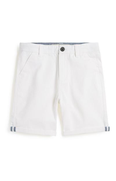 Older Boy White Chino Short
