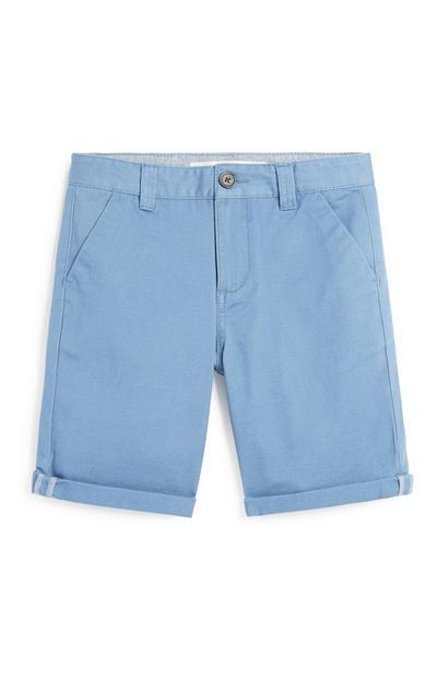Older Boy Blue Chino Short