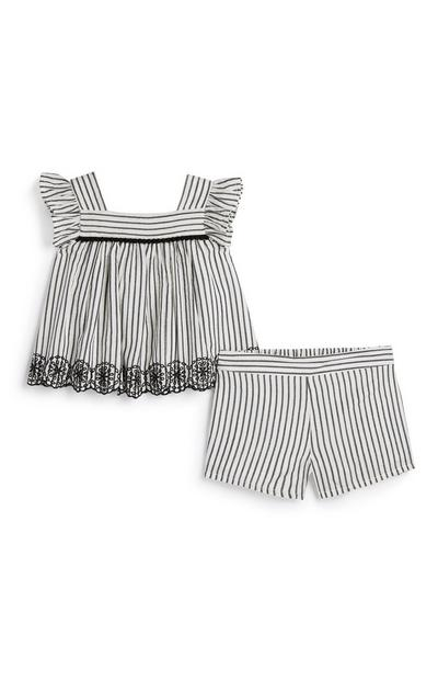 Baby Girl Stripe Outfit Set