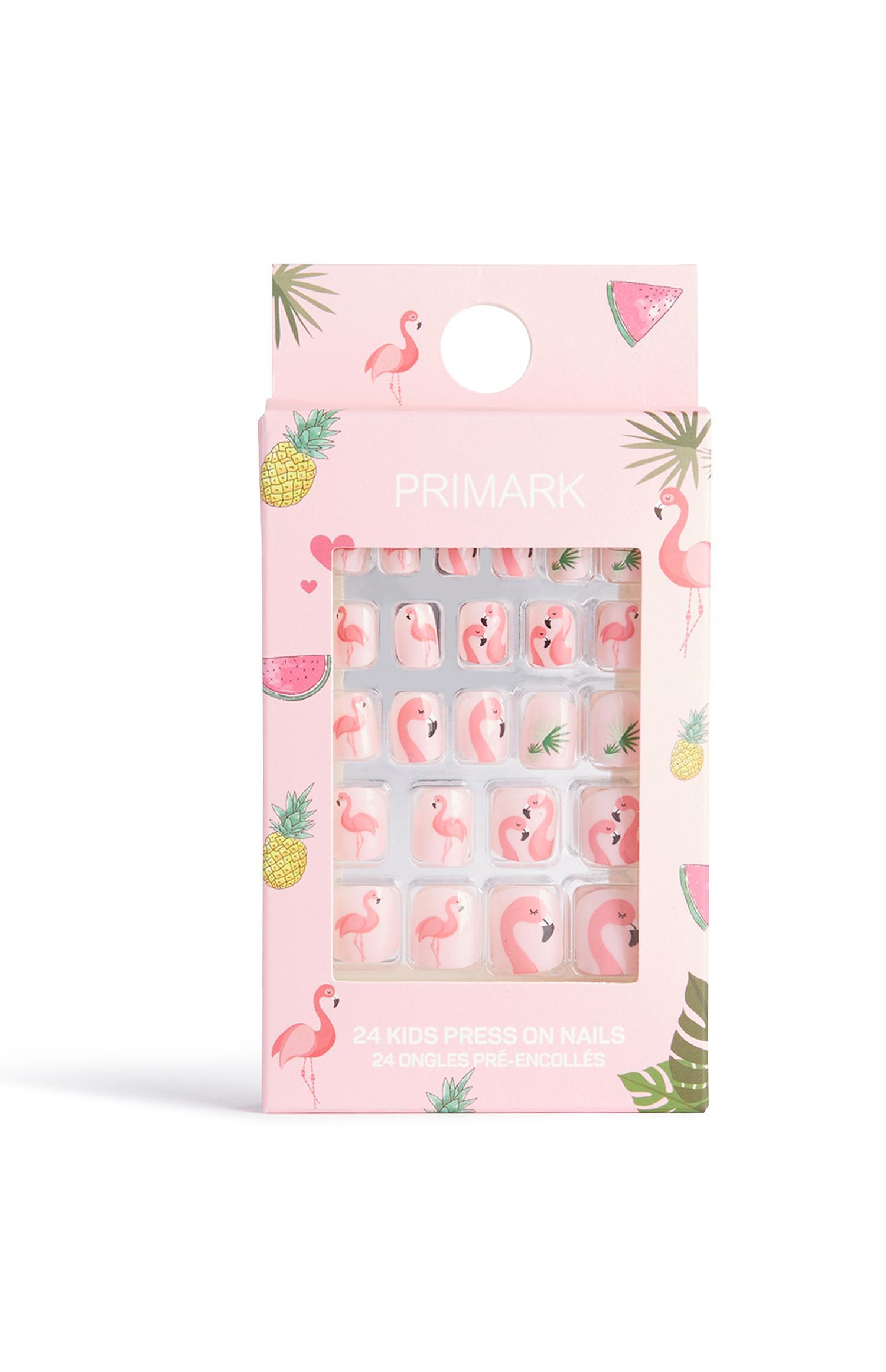 Selbstklebende Flamingo-Kunstnägel