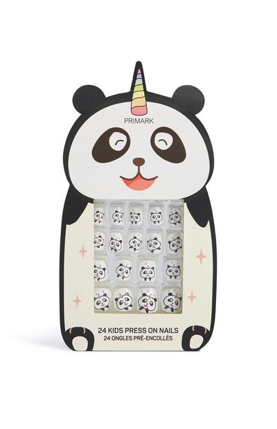 Panda Press On False Nails