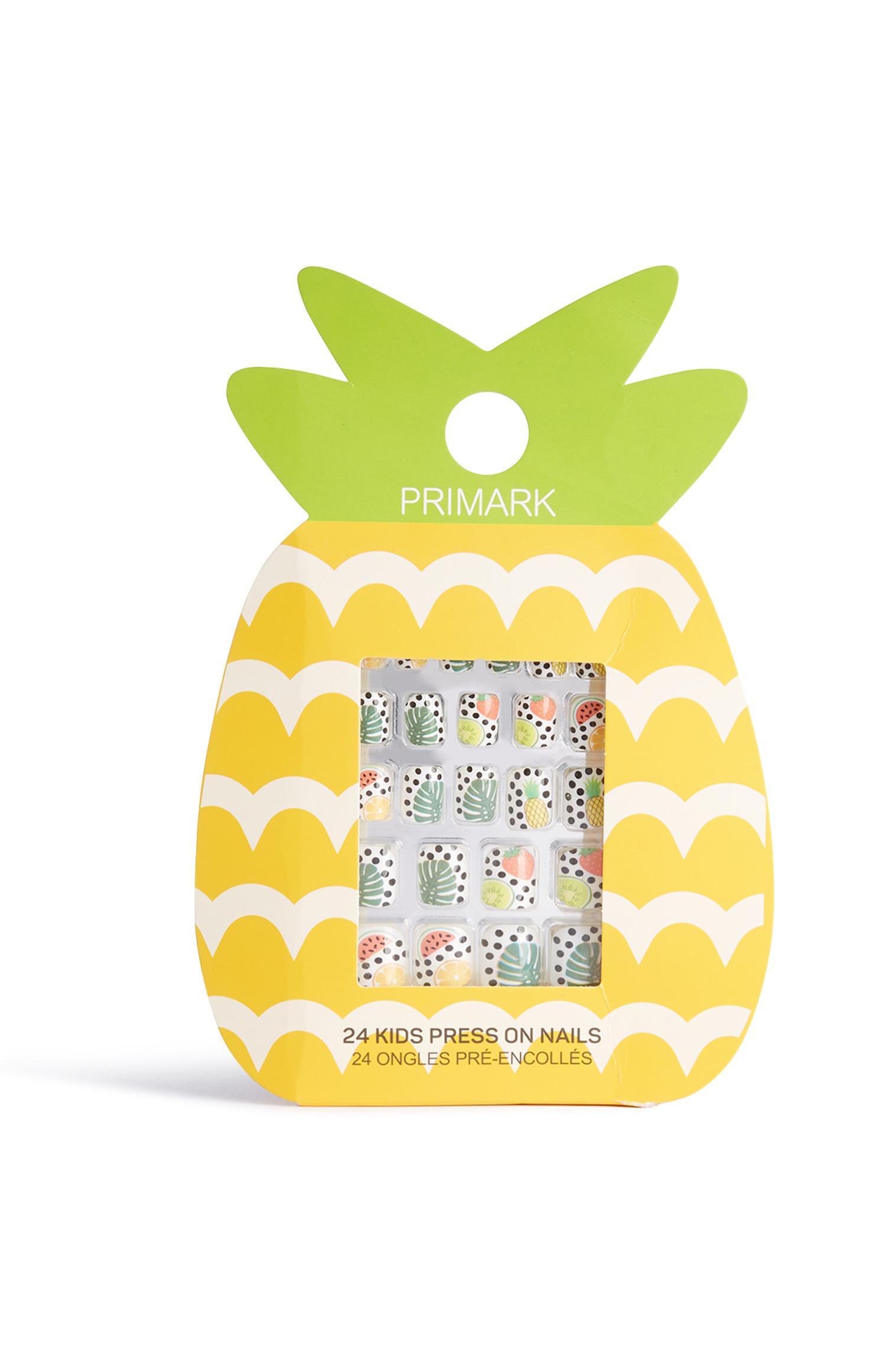 Selbstklebende Ananas-Kunstnägel