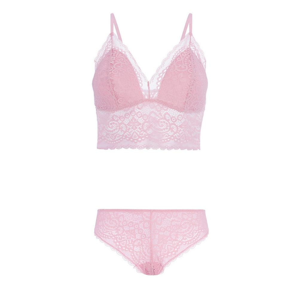 7e36e5c92cd5 Pink Bra And Brief Set | Sets | Lingerie underwear | Womens ...