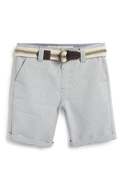 Younger Boy Grey Belted Short