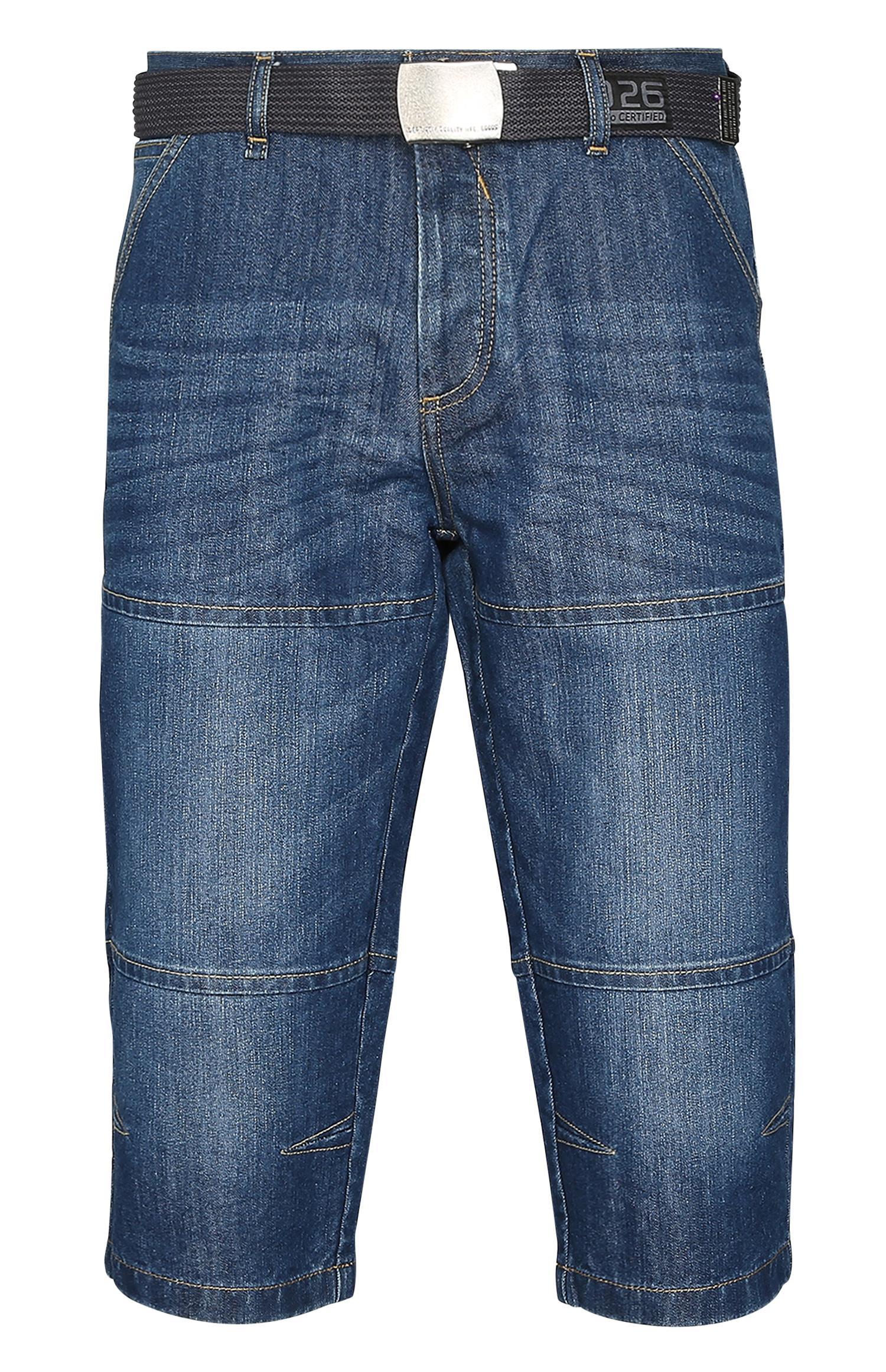 Denim Belted Shorts