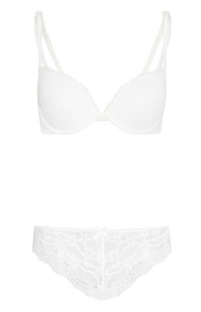 White Lace Underwear Set