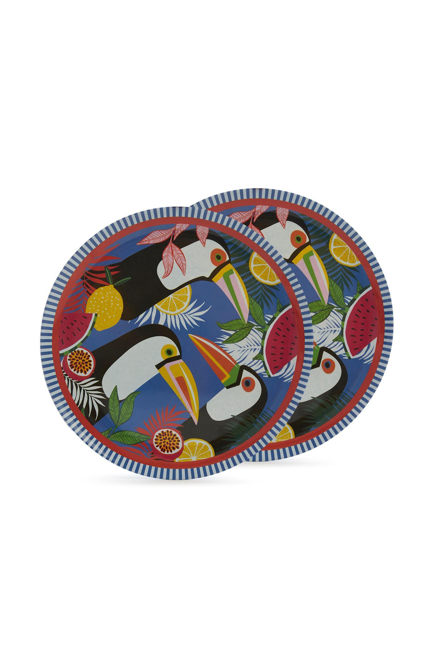 Patterened Plates 2Pk