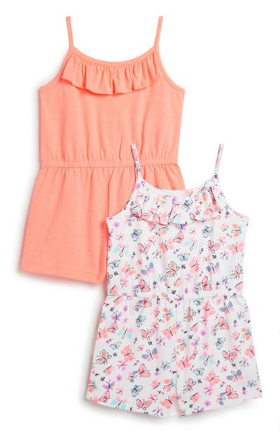 Younger Girl Playsuit 2Pk