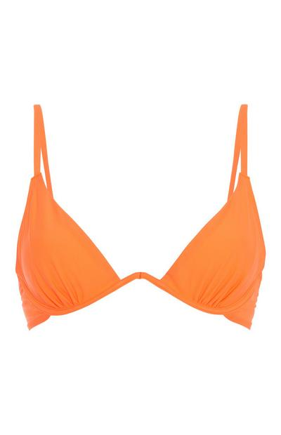 Neon Orange Bikini Top