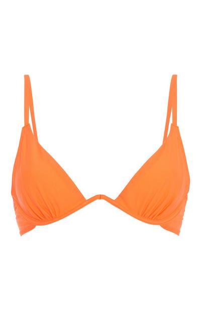 Neon Orange Bikini Top
