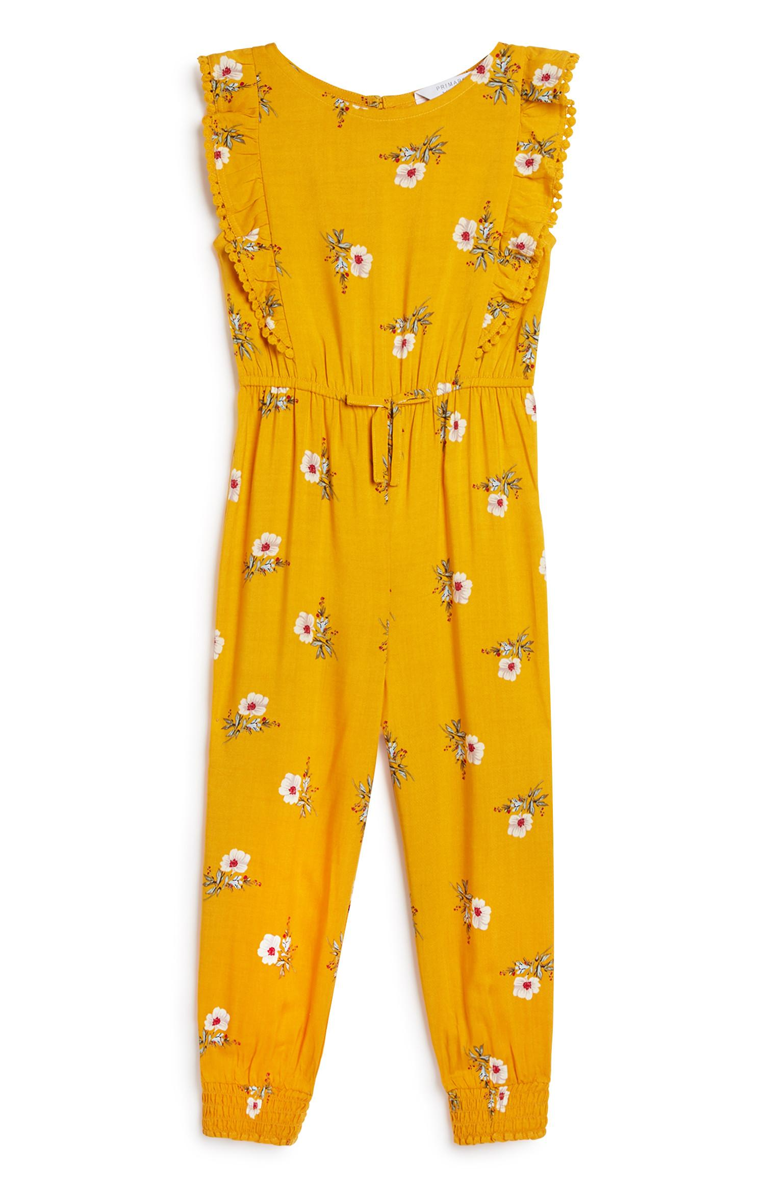 Younger Girl Yellow Jumpsuit