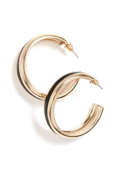 Black Hoop Earring