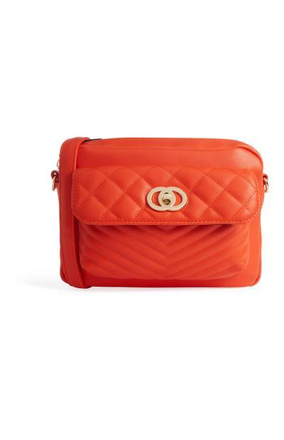 Orange Quilted Bag