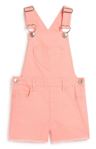 Younger Girl Heart Dungarees