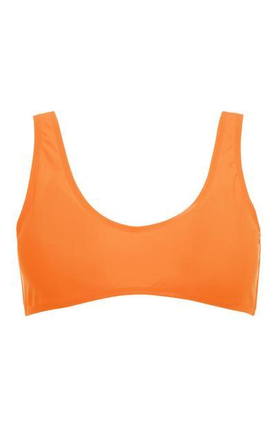 Bauchfreies Top in Orange