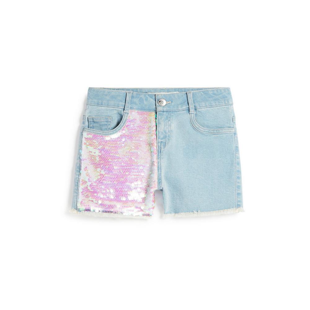 225b25692 Vaqueros cortos con lentejuelas para niña mayor | Pantalones cortos ...