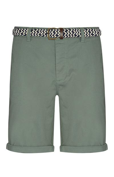 Green Belted Shorts