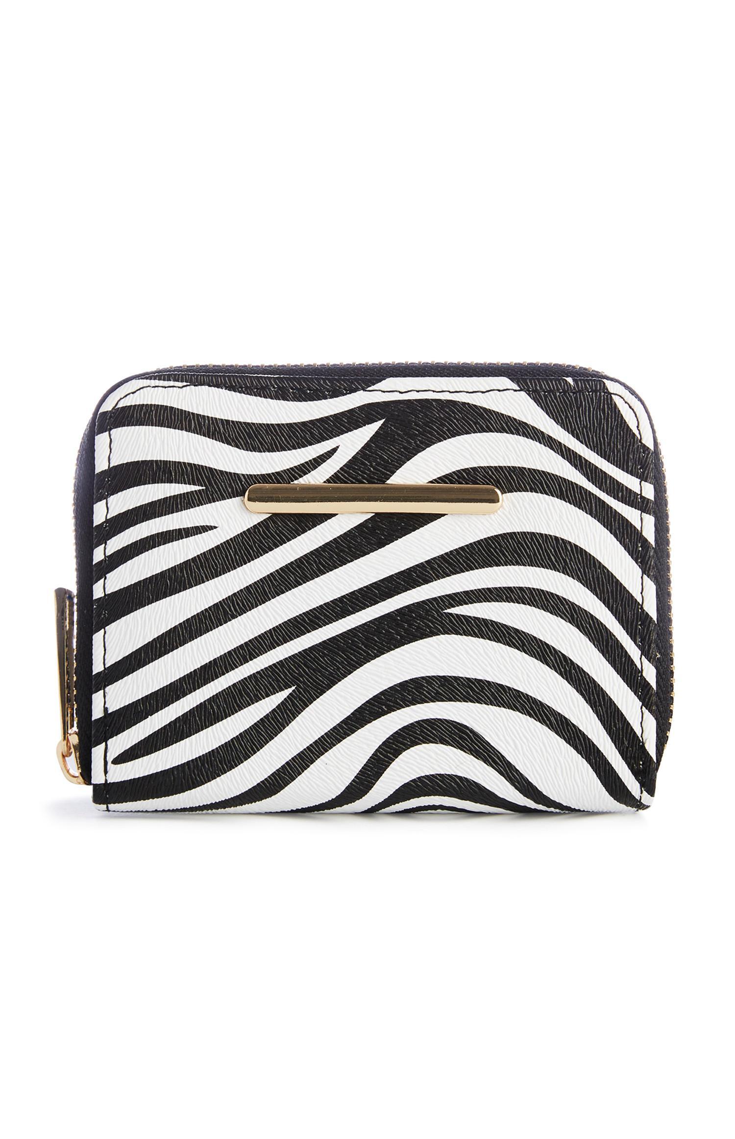 Zebra-Brieftasche mit Reißverschluss