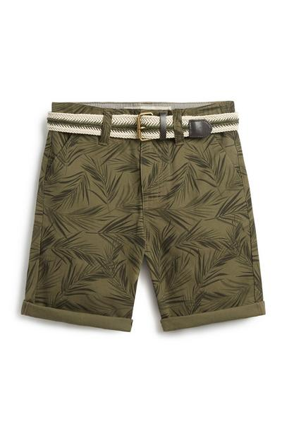 Older Boy Belted Chino Shorts