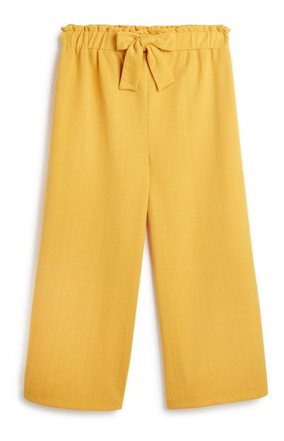 Older Girl Mustard Culotte