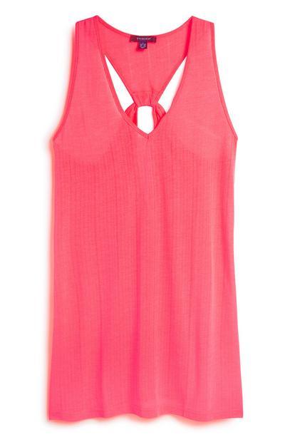 Blush Twist Back Jersey Dress