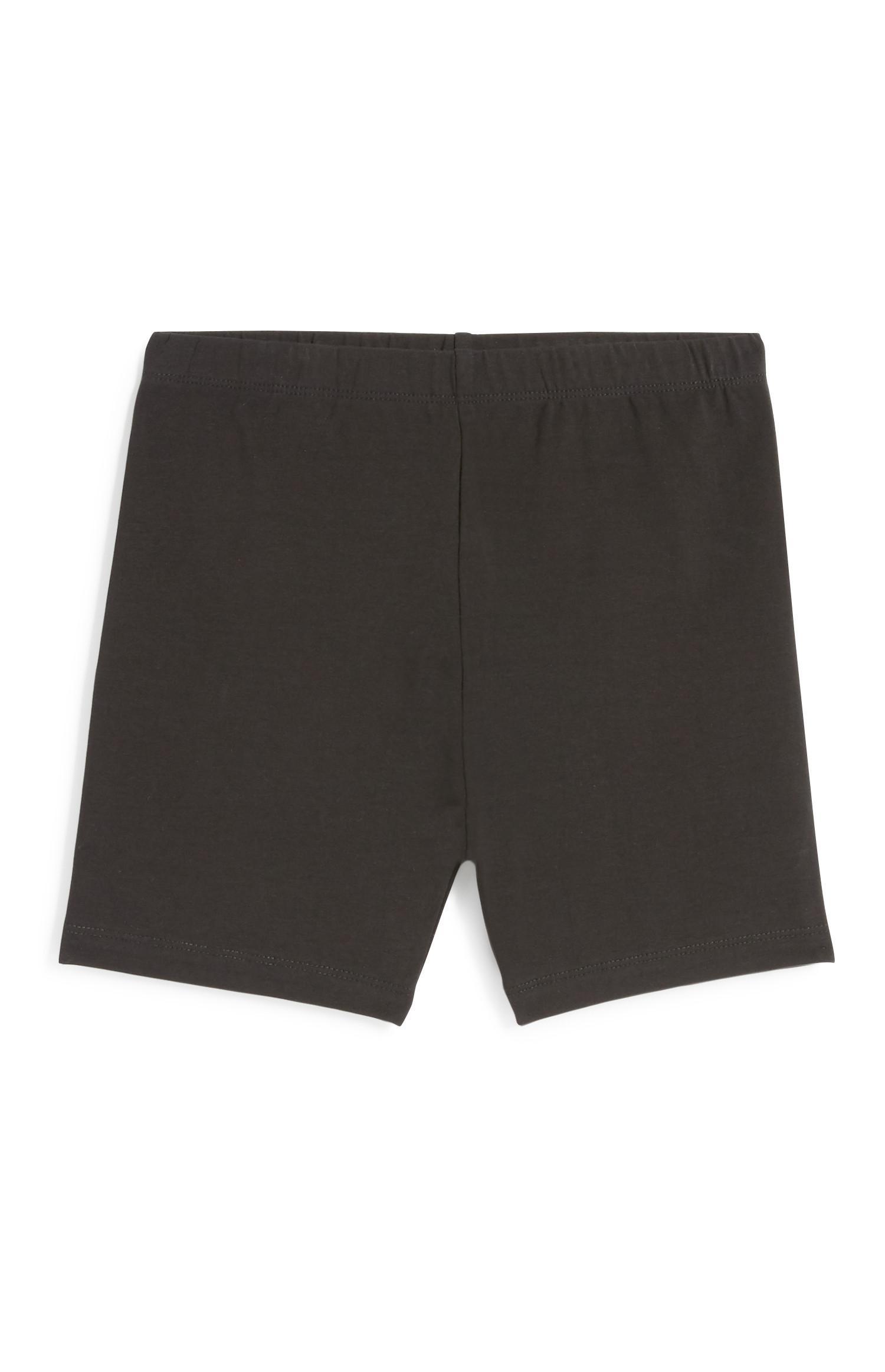 Zwarte wielrenbroek voor meisjes