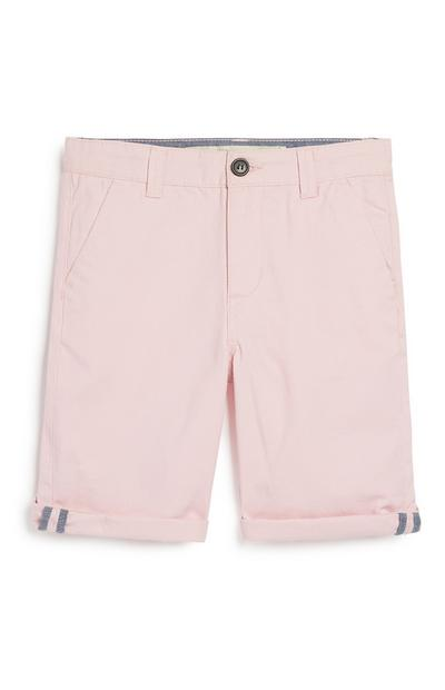 Older Boy Pink Chino Short