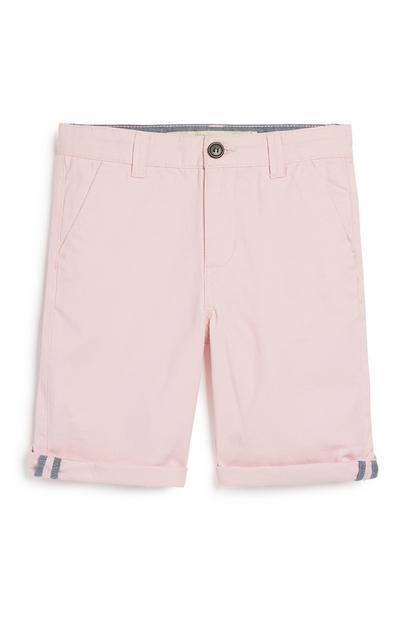 Older Boy Pink Chino Short
