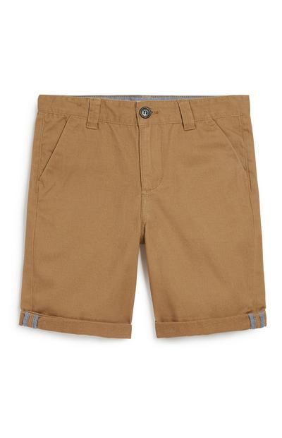Older Boy Tan Chino Short