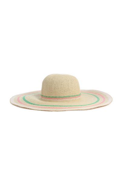 Striped Floppy Hat