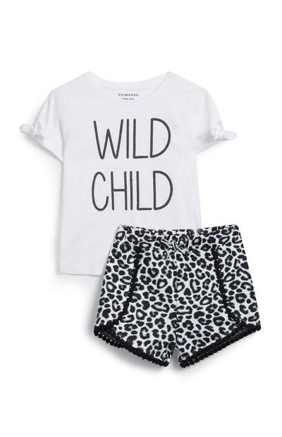 c3b0ffc42 Conjunto de 2 piezas con estampado de leopardo para bebé niña