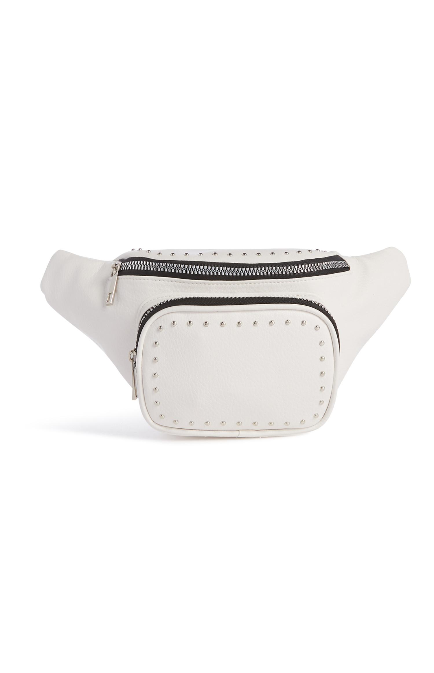 White Stud Fanny Pack