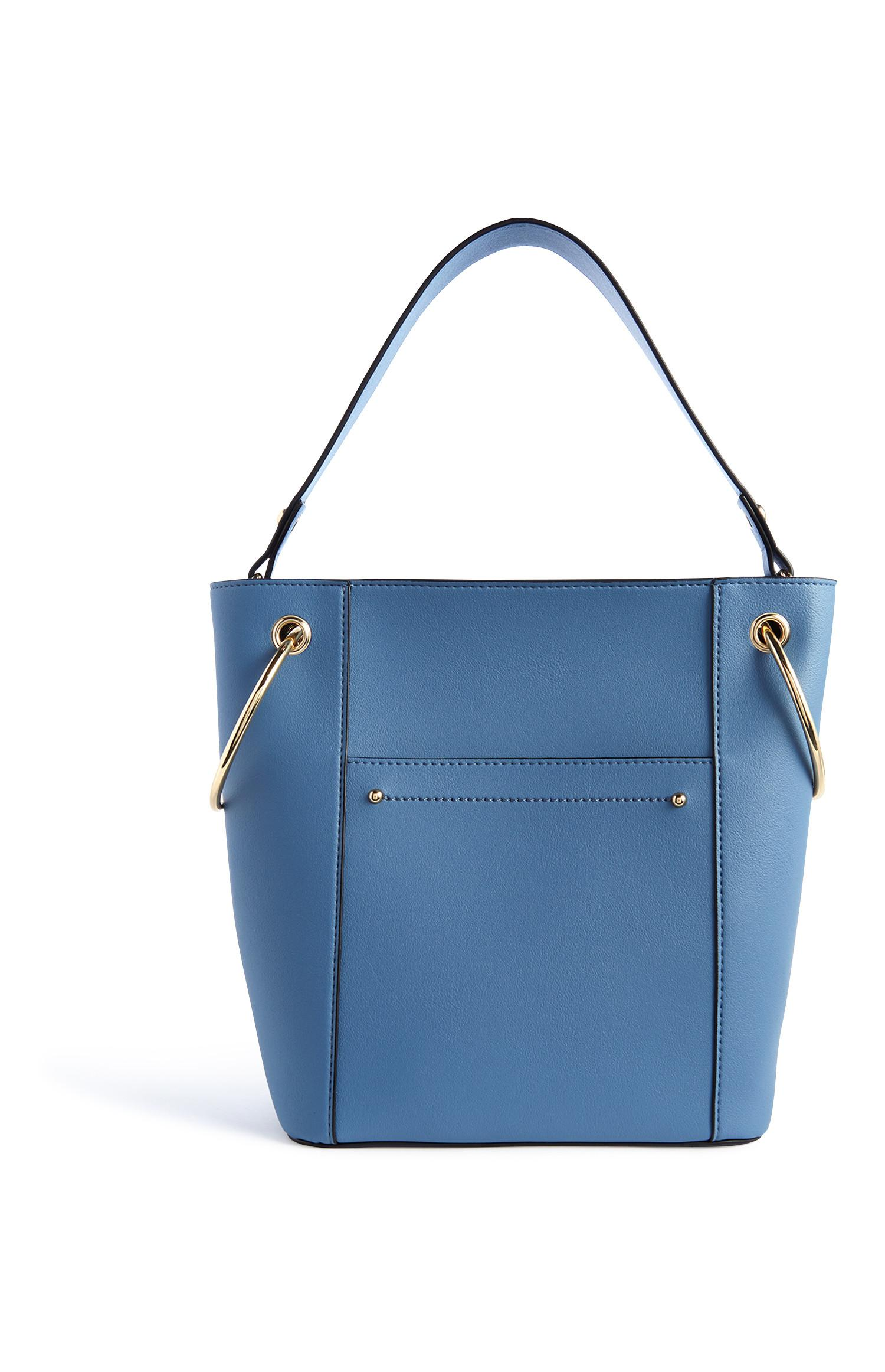 Blue Ring Bucket Bag