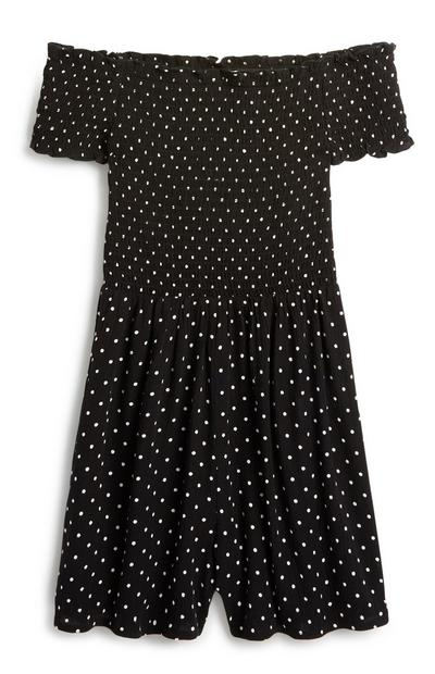 Older Girl Polka Dot Playsuit