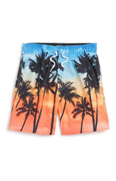 Younger Boy Palm Tree Short