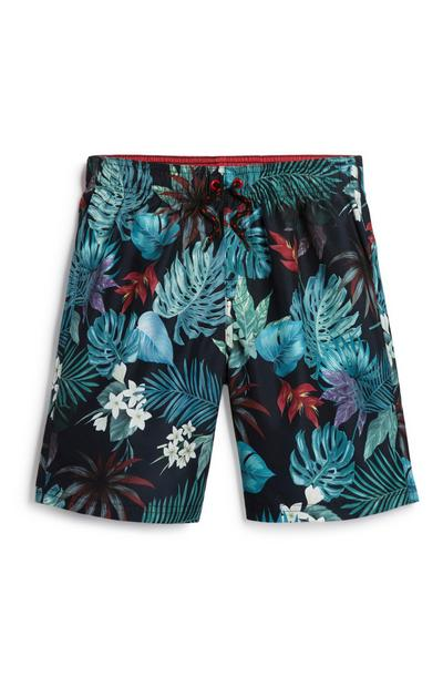 Olde Boy Palm Leaf Print Short