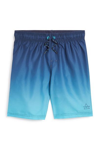 Blue Ombre Swim Short