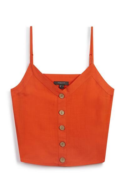 Orange Linen Cami