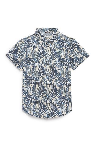 Older Boy Palm Print Shirt
