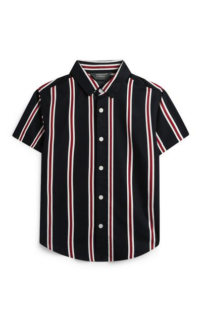 Younger Boy Vertical Stripe Shirt