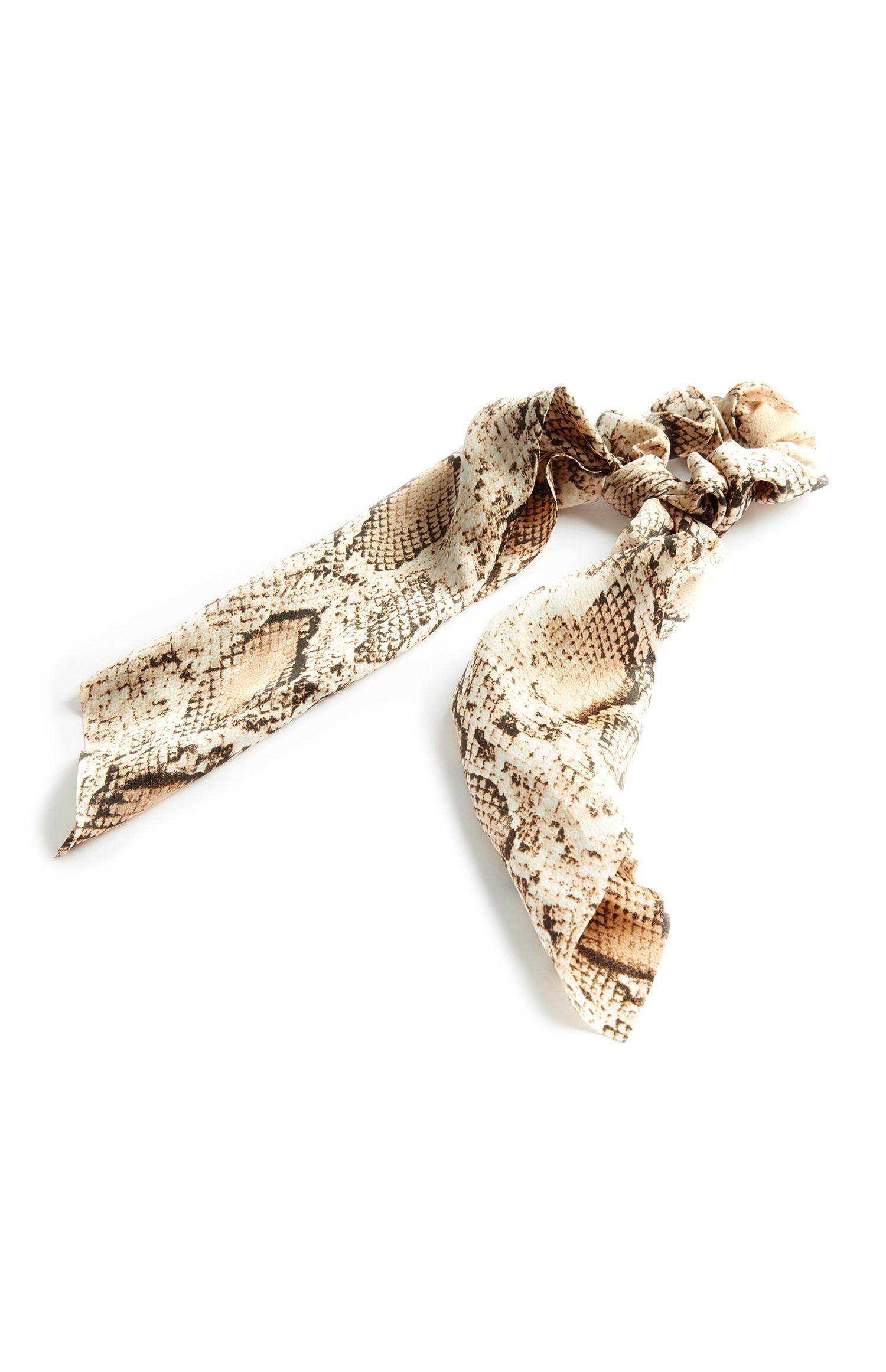 Snakeskin Long Scrunchie