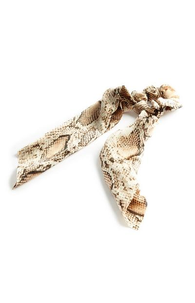 Snakeskin Long Scrunchie