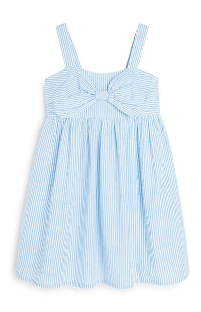 Younger Girl Blue Stripe Dress