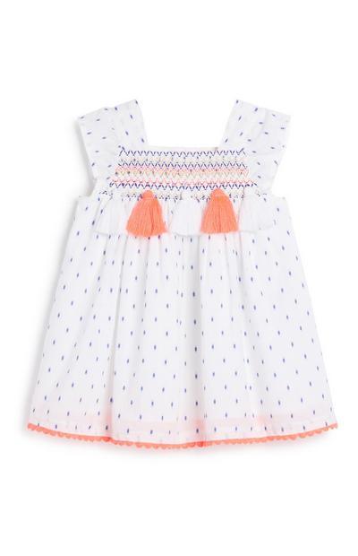 Baby Girl Neon Tassel Dress