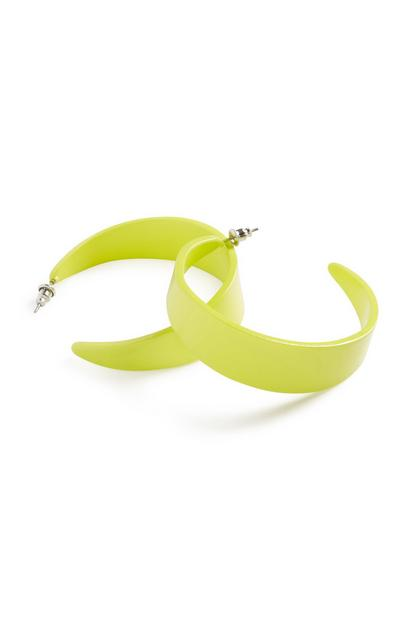 Neon Chunky Hoop Earrings
