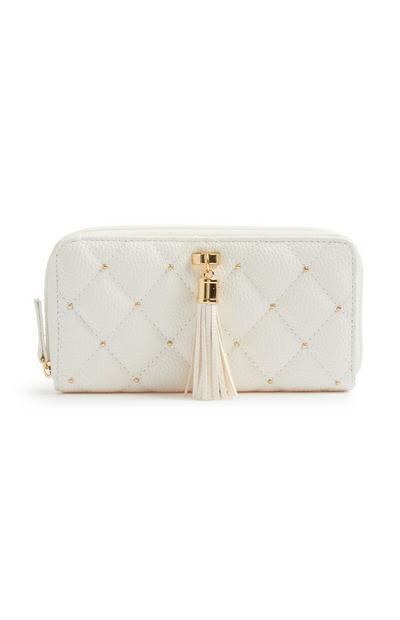 White Quilted Coin Purse