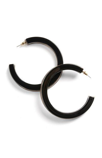 Black Hoop Earring