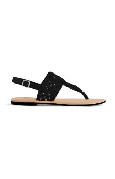 Black Crochet Sandal