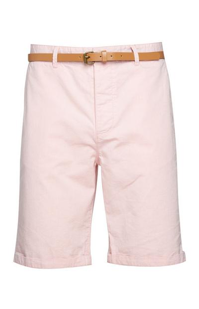 Pink Belted Shorts