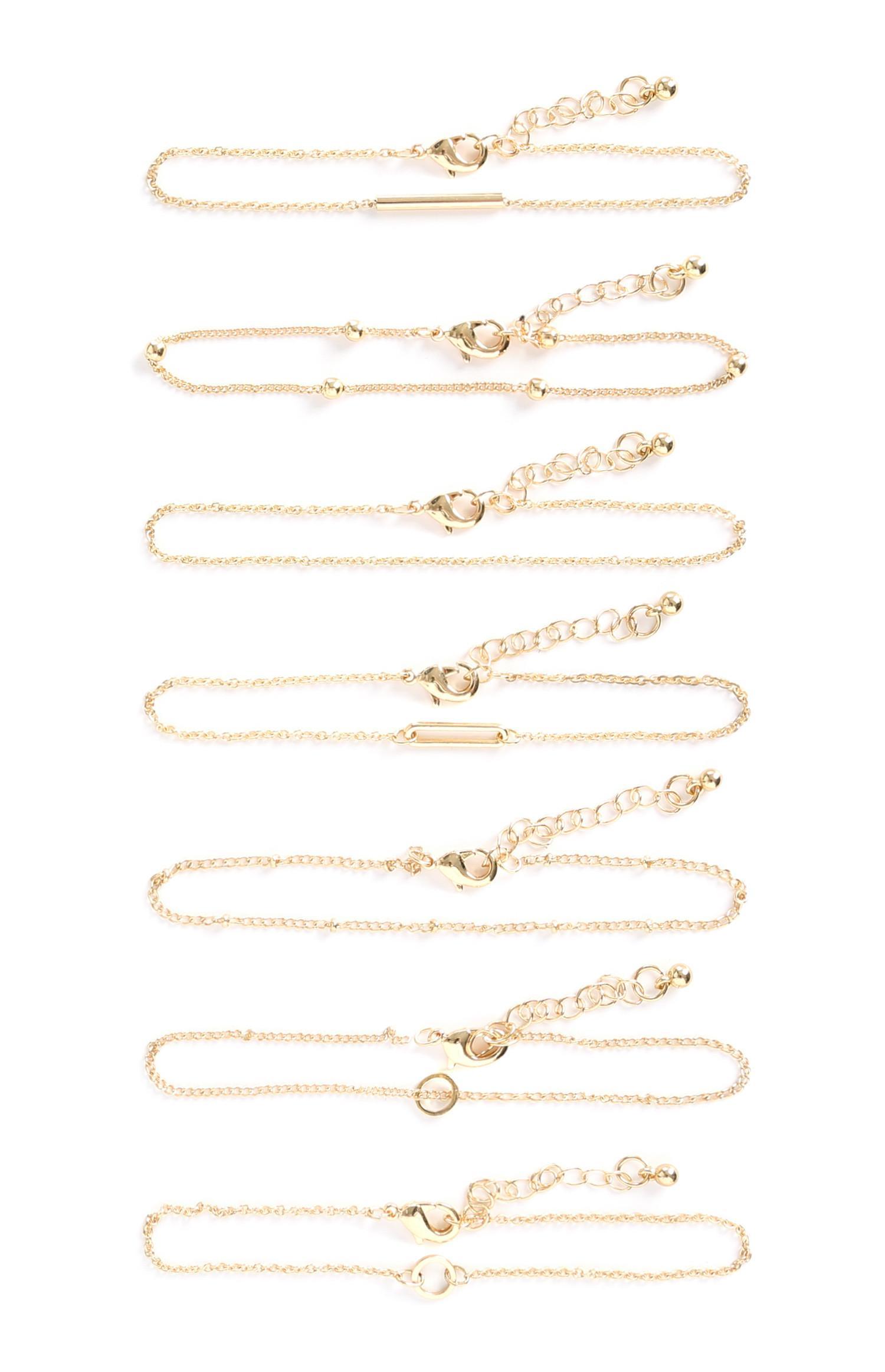 8-Pack Gold Bracelets